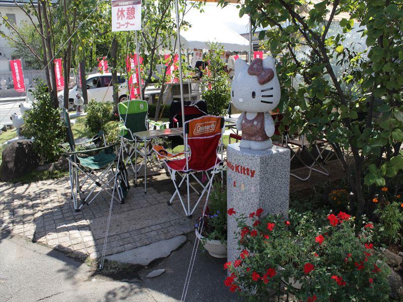 石づくりハローキティ展示2